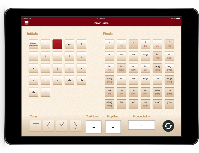 Pinyin Table App